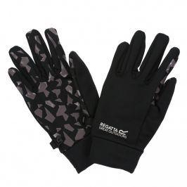 Dětské rukavice Regatta Grippy Gloves Velikost rukavic: 4-6 / Barva: šedá/černá