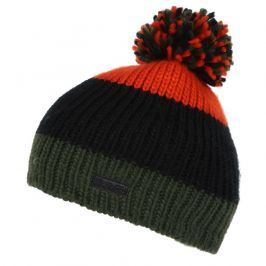 Dětská zimní čepice Regatta Davin Hat II Dětská velikost: 11-13 let / Barva: zelená/oranžová