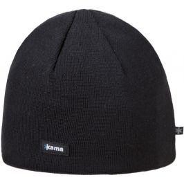 Pletená Merino čepice Kama A02 Obvod hlavy: 50–56 cm / Barva: černá