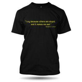 Tričko TBBT I cry černé pánské, Velikost trička L