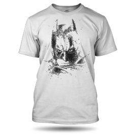 Batman Face tričko pánské bílé, Velikost trička S