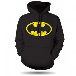Batman distressed pánská mikina černá, Velikost trička M
