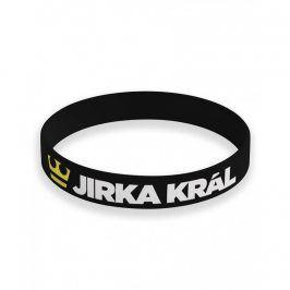 Jirka Král silikonový náramek černý