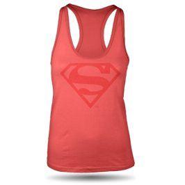 Superman sportovní tílko dámské růžové, Velikost trička S