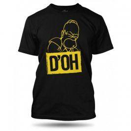The Simpsons Homer DOH tričko pánské černé, Velikost trička XL