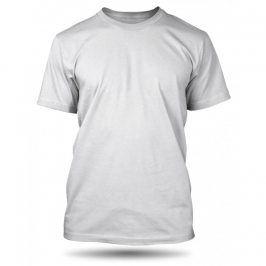 Pánské tričko Bílé bez potisku, Velikost trička M