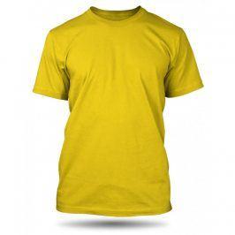 Pánské tričko Žluté bez potisku, Velikost trička M