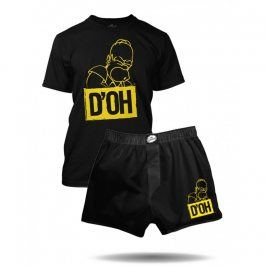 Pyžamo The Simpsons Homer D'OH, Velikost trička S