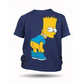 Tričko Bart Simpson zadek dětské tmavě modré, Velikost trička 116