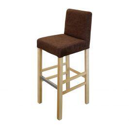 Barová židle BARI buk/tmavě hnědá