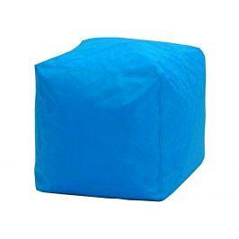Sedací taburet CUBE modrý V20