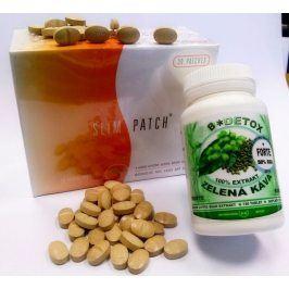 Bio-Detox Zvýhodněný balíček pro štíhlou línii    Zelená káva FORTE 6000 - 120t + Hubnoucí náplasti (30ks)