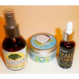 Bio-Detox Zvýhodněné balíček pro krásnou pokožku Bio Arganový olej + Kokosový olej + Kyselina Hyaluronová