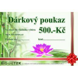 Bio-Detox Dárkový poukaz v hodnotě 500,-Kč
