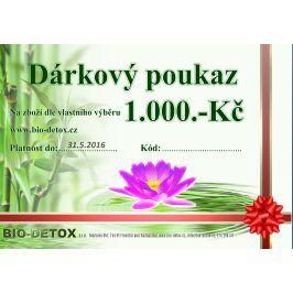 Bio-Detox Dárkový poukaz v hodnotě 1000,-Kč