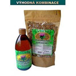Bio-Detox Zvýhodněný balíček Olej 500ml + Semínka 500g Ostopestřce mariánského