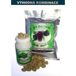 Bio-Detox SUPER VIP AKCE-Zvýhodněný balíček Acai Berry 200g + Zelená káva FORTE 60t