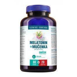 Aurum Melatonin + Mučenka 80 tbl. + 20 tbl. ZDARMA
