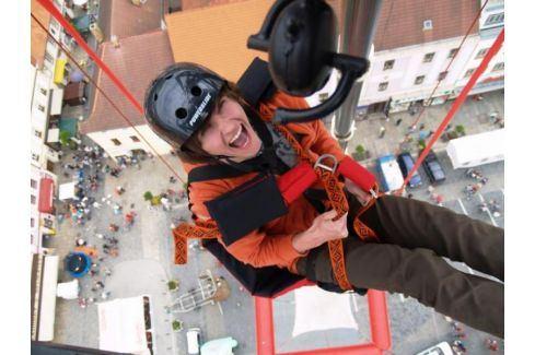 Zážitek - SCAD diving - volný pád z 50 metrů bez lana - Praha Bungee jumping