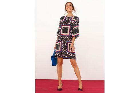Venca Šaty v geometrickém designu potisk S Dámské šaty