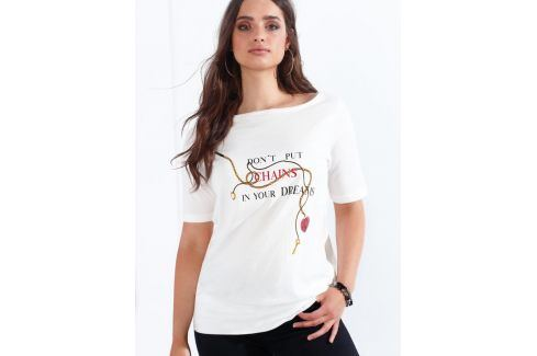 Venca Tričko s potiskem režná L Dámská trička