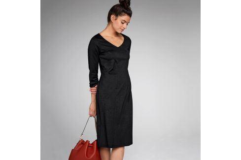 Blancheporte Jednobarevné šaty se zeštíhlujícím efektem černá 38