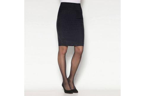 Venca Pouzdrová sukně s rozparkem černá 40 Dámské sukně