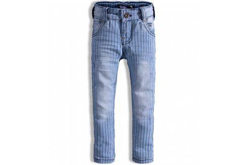 Dětské kalhoty DIRKJE PROUŽKY modré Velikost: 80