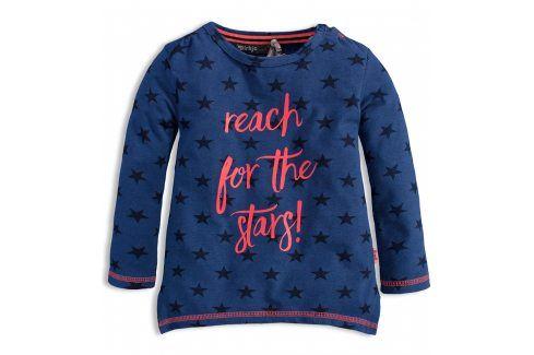 Dívčí triko s dlouhým rukávem DIRKJE STARS modré Velikost: 92