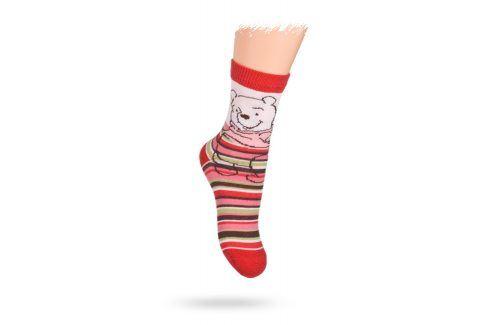 KREBO Dětské ponožky vzor DISNEY MEDVÍDEK PÚ Velikost: 21-23 Dětské oblečení