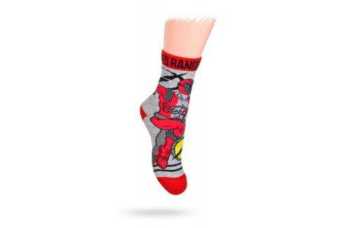 KREBO Dětské ponožky DISNEY vzor POWER RANGERS Velikost: 21-23 Dětské oblečení