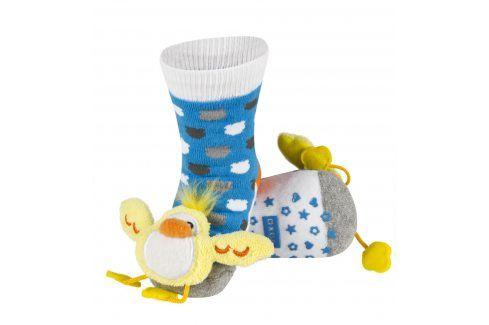 SOXO Ponožky s chrastítkem KUŘÁTKO Velikost: 19-21 Dětské ponožky s chrastítkem