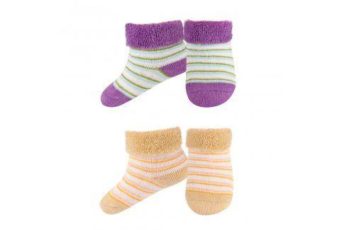 SOXO Kojenecké froté ponožky 2páry fialové Dětské oblečení