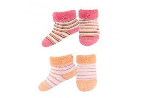 SOXO Kojenecké froté ponožky 2páry růžové Dětské oblečení