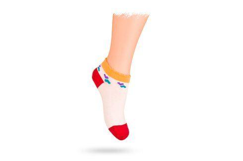WOLA Kotníkové ponožky SRDÍČKA Velikost: 21-23 Dětské oblečení