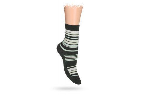 WOLA Dětské ponožky ABS vzor PROUŽKY khaki Velikost: 27-29 Dětské oblečení