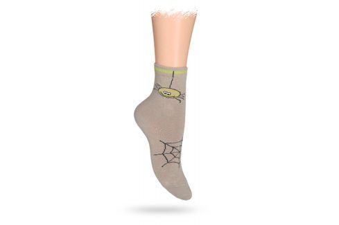 WOLA Dětské ponožky ABS vzor PAVUČINA béžové Velikost: 27-29 Dětské oblečení