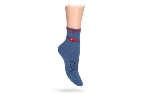 WOLA Dětské ponožky ABS vzor PAVUČINA modré Velikost: 27-29 Dětské oblečení