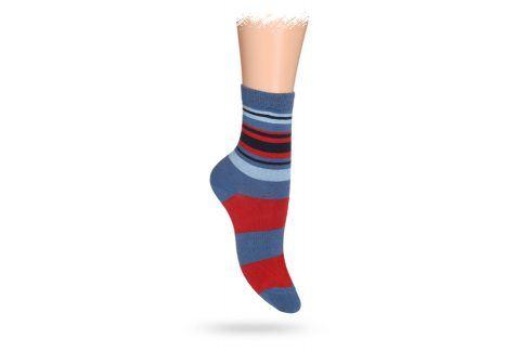WOLA Dětské ponožky ABS vzor PRUHY červené Velikost: 27-29 Dětské oblečení