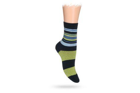 WOLA Dětské ponožky ABS vzor PRUHY zelené Velikost: 30-32 Dětské oblečení