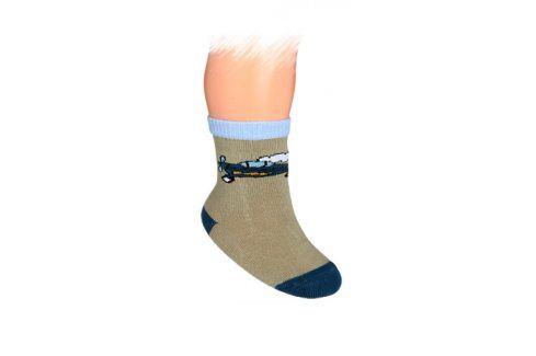 WOLA Kojenecké ponožky vzor LETADLO Velikost: 15-17 Dětské oblečení