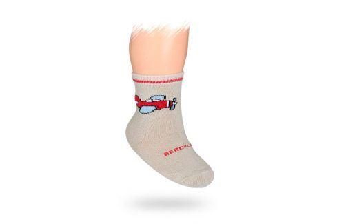 WOLA Kojenecké ponožky vzor LETADLO Velikost: 12-14 Dětské oblečení