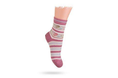 Ponožky WOLA vzor SRDÍČKA Velikost: 21-23 Dětské oblečení