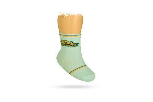 WOLA Kojenecké ponožky s obrázkem BULDOZER Velikost: 12-14 Dětské oblečení