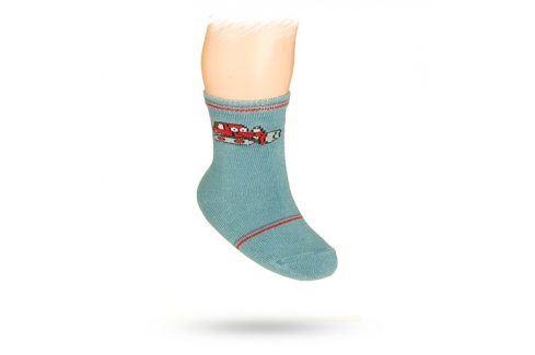 WOLA Kojenecké ponožky s obrázkem BULDOZER Velikost: 15-17 Dětské oblečení