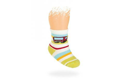WOLA Kojenecké ponožky vzor AUTOBUS Velikost: 12-14 Dětské oblečení