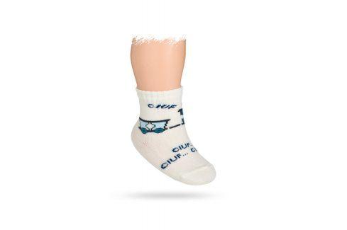 WOLA Kojenecké ponožky vzor MAŠINKA Velikost: 15-17