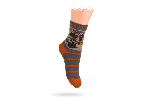 WOLA Dětské ponožky s obrázkem NAKLADAČE Velikost: 21-23 Dětské oblečení