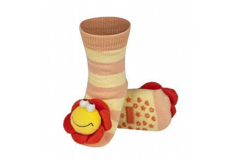 SOXO Ponožky s chrastítkem KYTIČKA Velikost: 19-21 Dětské ponožky s chrastítkem
