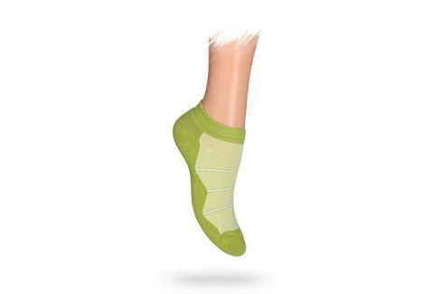 WOLA Dětské kotníkové ponožky PROUŽKY zelené Velikost: 30-32 Dětské oblečení